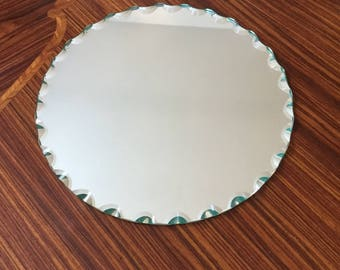 Beveled Miror - Antique hand mirror cant art deco
