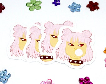 Pink punk girl sticker