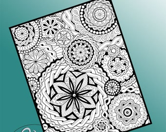 Printable Colouring Page - Join The Fun #2 in Mandala Collage series