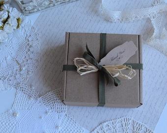 "Medium Cardboard Boxes 4.72""x4.72""x1.97"", 5 pcs Boxes, Favor Gift Packaging, Gift Box, Wedding Favor Box, Bridesmaid gift boxes."