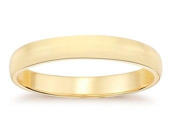 4.7mm 14K Yellow Gold Man's Wedding Band