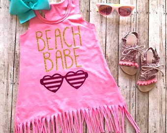 Beach babe - fringe dress - summer dress - beach babe fringe dress - fringe