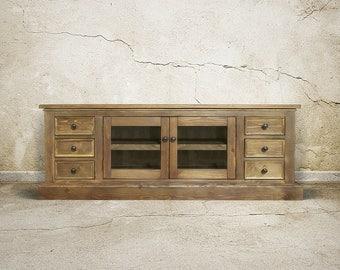 media console console cabinet console reclaimed wood tv stand handmade - Reclaimed Wood Media Console