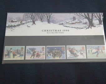 Royal mail stamps christmas 1990 stamp presentation pack No213