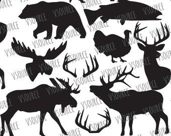 Svg - Deer SVG - Antler SVG  - Turkey Svg - Svg -  Reindeer SVG - Moose Svg - Moose Head Svg - Bear Svg - Fish Svg Cut Files