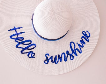 Hello Sunshine - customized summer hat