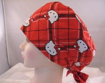 Women's Pixie Scrub Hat Red Hello Kitty