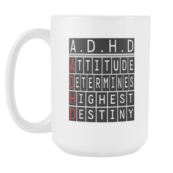 A. D. H. D. Coffee Mug Quotes Sayings Best Gift Ideas