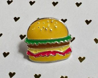 Hamburger Enamel Pin