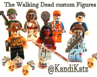 Custom Mini Figures,Block Toys,The Walking Dead,Cake Topper,Abraham,Rick,Daryl,Carol,Michonne,The Govenor,Maggie,Zombies,Easter Gift