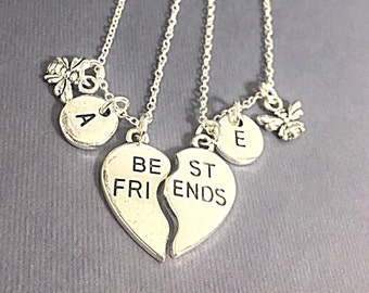 Best Friends Necklace.Customized,Set of Two Friendship Necklaces,Best Friend,Bff Charm,Friendship Necklaces,Best Friend Jewelry, Friend Gift