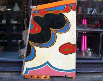 Vintage Hand Painted Circus Panel - Fairground Sign Fair Retro Mid Century
