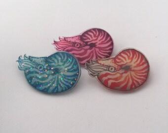Handmade Nautilus Badge