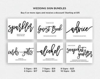 Wedding Sign Bundle   BUNDLE 4   Wedding Reception Signs   Printable Wedding Signs   EDN 5457 - 5480