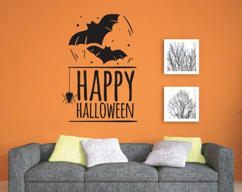 Happy Halloween Wall Decal - Wall Stickers - Halloween Party
