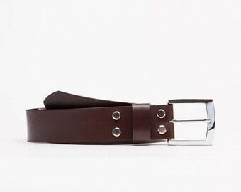 Classic leather belt // Dostoevskiy