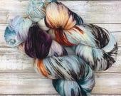Hand Dyed Yarn | Superwash Merino Wool/Nylon Blend | Fluffy Sock/Fingering Weight | 100 g. | Selkie | 4-ply