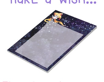 """Notepad """"Make a Wish"""" with Jirachi and Stars ( 50 sheets , A6 )"""