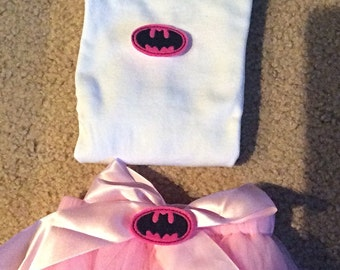 Batgirl hospital hat coming home outfit, Super hero beanie, onesie, diaper cover or tutu, batgirl onesie outfit, free gift wrap,