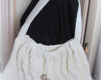 Knitted Bag – Aran Celtic Twist