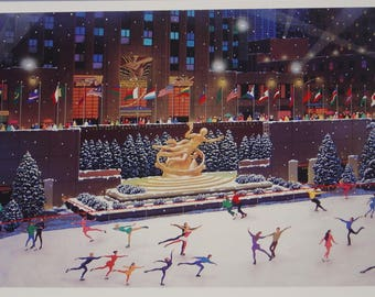 Unframed Magic of New York in Winter by Alexander Chen with Certificate of Authenticity (MM)