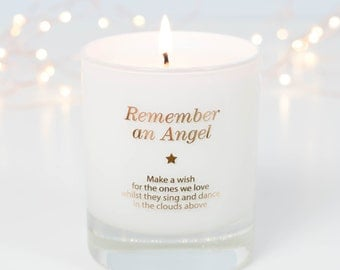 Remembrance Gift, Sympathy Gift, In Loving Memory, Infant Loss, Memorial Candle, Loss Of Mother, Condolence Gift, Loss Of Father, Candle