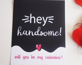Hey Handsome Valentine Card