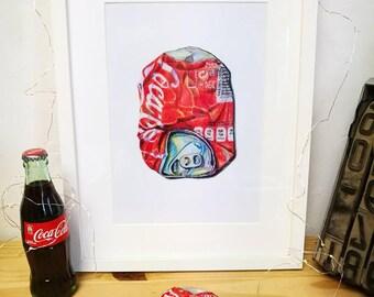 Coca Cola. Print. 29,5x21cm.