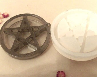 Pentacle pentagram tarot star five pointed star pendant clear silicone molds