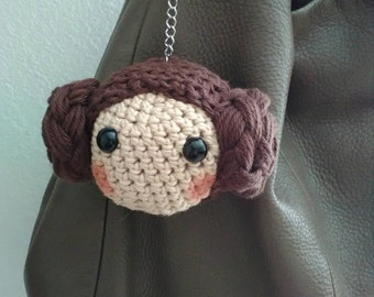 Crochet amigurumi inspired purse charm