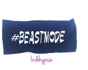 Beastmode, Beastmode Headband, Black Headband with White Beastmode, Black Headband, Sweatband