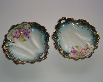 Pair of Nippon Opened Handled Candy / Nut Dish