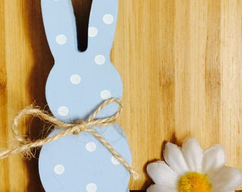 Wooden painted bunny ornament keepsake room decor easter decoration