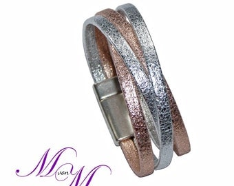 Ladies Leather Bracelet - NOELLE made of genuine leather