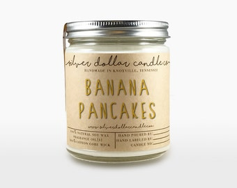 Banana Pancake Candle - Scented candles - soy candle - candle - boyfriend gift - gift for her - mom Birthday, gift for mom, mens candle