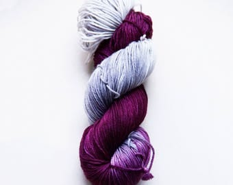 Hand dyed yarn 'Dr Love' 5ply sport weight 100g