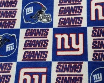 READY TO SHIP New York Giants Knotted Fleece throw with Antipill Backing