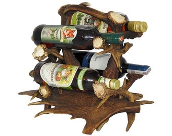 Winerack with antlers