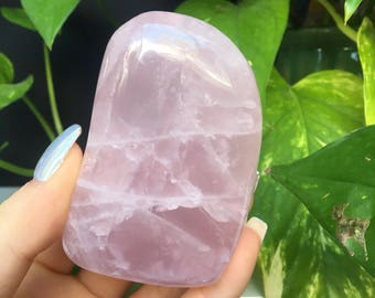 Polished Rose Quartz Crystal Freeform Self Standing