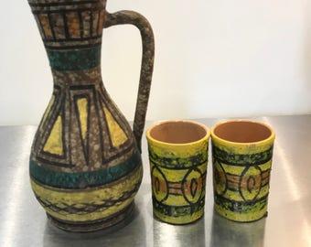 Italian Jar and glasses