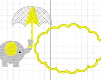 baby elephant machine embroidery