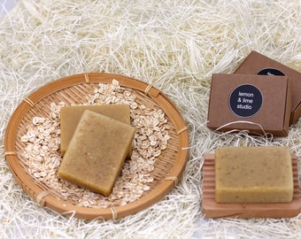Handmade unscented Olive oil and  Goats milk  soap - Oatmeal