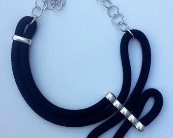 Climbing rope necklace BLACK
