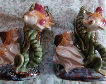 Vintage Pair of 6' Ceramic Fish Knick Knacks