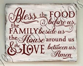 Bless the food before us the Family beside us Amen  SVG, PNG, JPEG