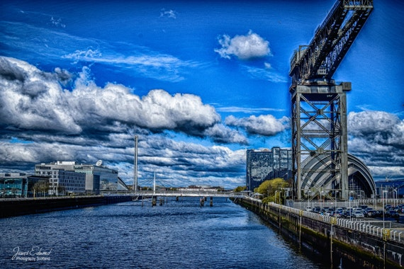 river clyde, glasgow, finnieston crane, river, water photography, scotland, scottish photography, wall art, wall decor, glasgow landmarks