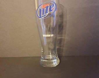Miller Lite glass