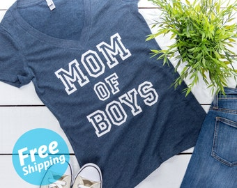 Mom of Boys t-shirt, Blessed mama, Mom of Boys tee, Mother of Boys,Mama Life tee, gifts for mom, Pregnancy announcement,