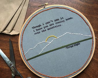 Poetry and Mountains Embroidery
