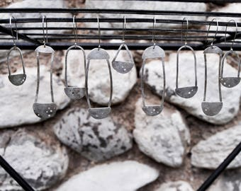 From Moons, Full Set of Sterling Silver Mercury Dime Drop Earrings
